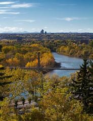 Calgary's Autumn River Valley (Matthew P Sharp) Tags: city autumn canada calgary landscape alberta 7d