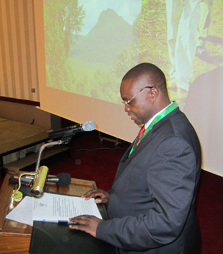 The Minister of Agriculture, Norbert Kantitima