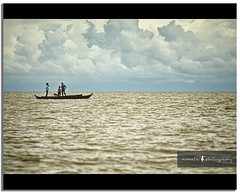 let us go play among the clouds.. (PNike (Prashanth Naik)) Tags: sky people boys water kids clouds river boat nikon asia cambodia play cloudy horizon dreamy tonlesap d7000 pnike