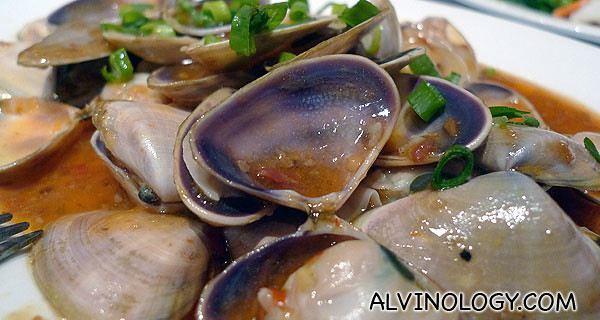 "Lala clams - these are called ""pi pi"" in Australia"