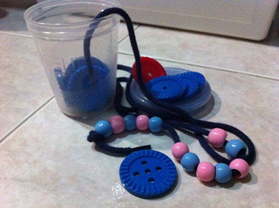 Montessori Bead Threading