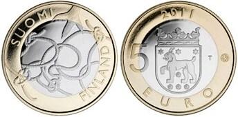 5 Euro Fínsko 2010, provincia Tavastia
