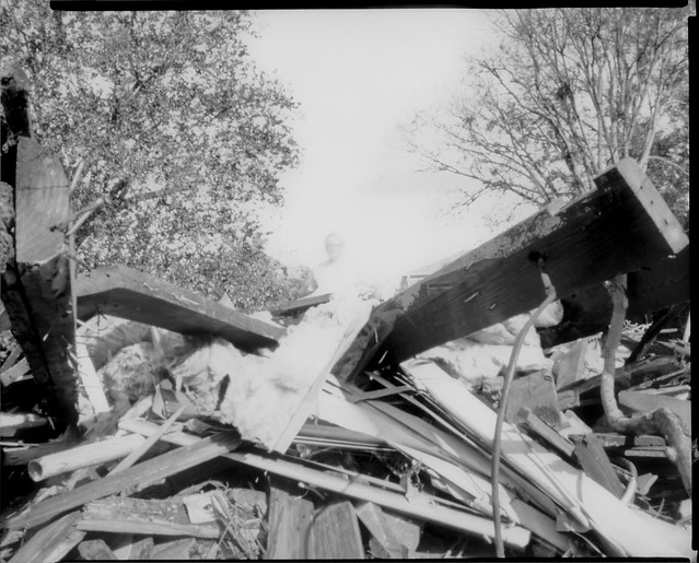 Rising from Wreckage  (8x10 paper negative pinhole)