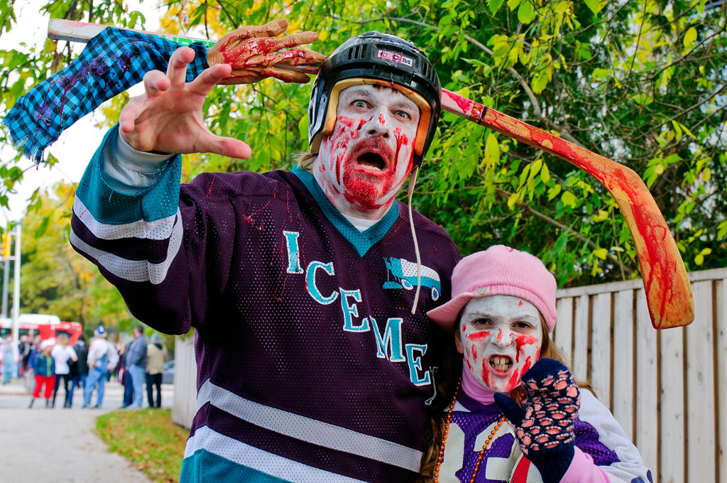 Zombie hockey player