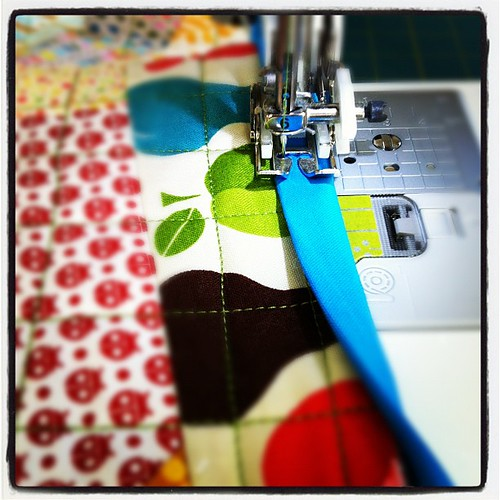 Binding is going on! #sewing #beetweet