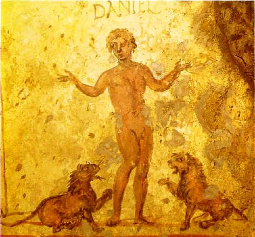 Pintura de martir cristiano