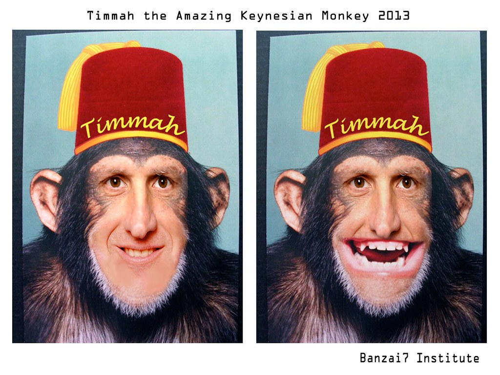 TIMMAH THE AMAZING KEYNESIAN MONKEY
