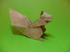 Esquilo - Hideo Komatsu (rob.tad) Tags: animal paper squirrel origami papel esquilo komatsu hideo roedor