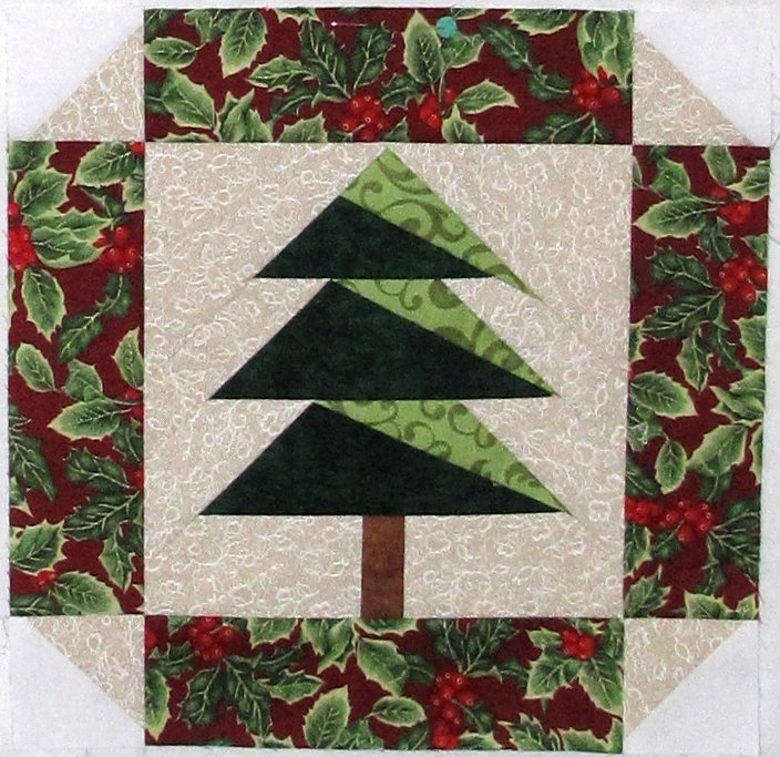 Christmas tree - paper pieced