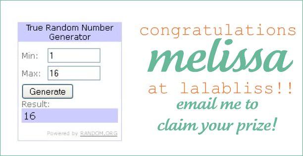 winner melissa