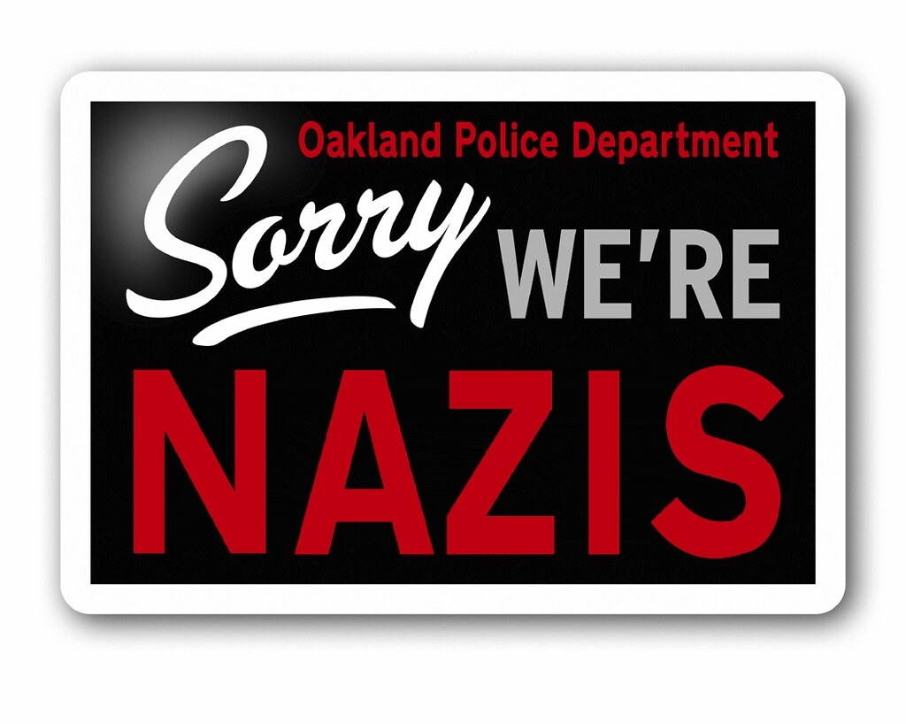 TODAY'S SORRY SIGN (OAKLAND VERSION)