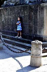 (# Andrusk) Tags: blue black monument girl stripes gray chain tantrum iasi lant gri copil albastru childhoood dungi imbufnare