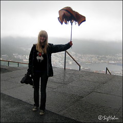 Beautiful Bergen - Rest in Peace Little Umbrella (SigHolm - Very Busy) Tags: family friends rain umbrella norge rip daughter fjlskylda bergen rok flyen flien vinir rigning flibanen noregur bjrgvin sley dttir regnhlf flyfjellet hvlfrii ripumbrella sigholm ilovebergen beautifulbergen sleysig fallegabergen restinpeacelittleumbrella bergenrain