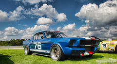 1965 Shelby GT350 (Chad Horwedel) Tags: blue classic ford car illinois autobahn shelby mustang joliet racer gt350 1965shelbygt350 cvmcfordshow