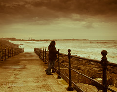 Wave watching (dave-hall) Tags: sea waves olympus e1 seatoncarew hartlepool