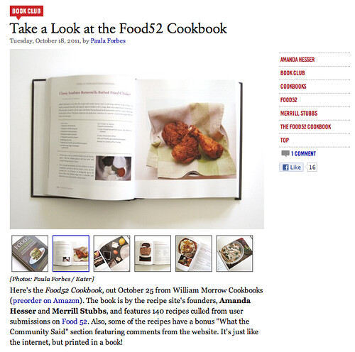 Eater National | Take a Look at the Food52 Cookbook