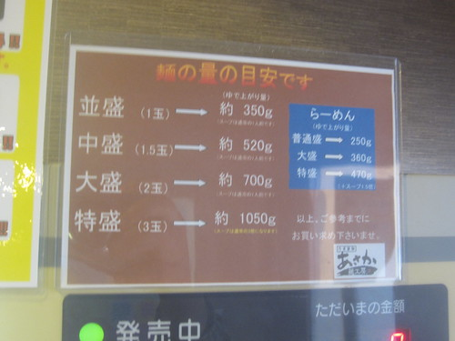 麺量@あさか麺工房(江古田)