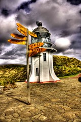Destination Sign Cape Reinga Lighthouse Northland New Zealand (H@ppyfacE) Tags: city newzealand wallpaper sky lighthouse green art colors architecture canon landscape fun photography photo spring downtown erotic photos theend dramatic auckland porn 1855 hdr capereinga rwc photomatix 3exp newzealandnature hdrphotography tophdr hdrphotos hdrimages hdrpictures hdrwallpaper eos450 hdrporn hdrnewzealand 1855es newzelandhdr hdrauckland hppyfaceon