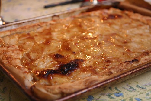 Pear Tart with Fig Glaze