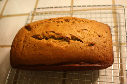 pumpkin bread cooling