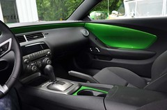 "2011 Synergy Green Camaro 5th Gen custom door panel install • <a style=""font-size:0.8em;"" href=""http://www.flickr.com/photos/85572005@N00/6302945007/"" target=""_blank"">View on Flickr</a>"