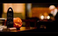 Apple bobbing (Alexandre Moreau | Photography) Tags: uk london halloween pumpkin nikon bokeh naturallight ambiance newcross gastropub se14 halloweennight lewishamway 85mmf14g d7000 theoldhaberdasher 2£abob