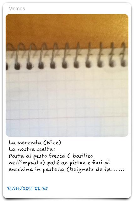La Merenda- Nice (notecard)