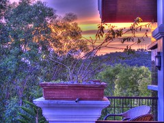 balcony view (zbigphotography (1M+ views)) Tags: trees sunset sky colors clouds canon landscape hotel balcony philippines bohol hdr g12 ringexcellence flickrstruereflection1