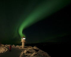 Aurora Borealis (Ebba T. Jenssen) Tags: lighthouse norway t narvik ebba nordlys fyrlykt jenssen northernnorway polarlys arcticlight top20aurora ankenesstrand