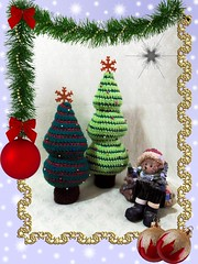 Crochet Christmas Trees Pattern (Daniela.H.) Tags: christmas xmas trees tree home pattern crochet decoration softie gift centerpiece amigurumi weihnachtsbaum baum tutorial anleitung dekoration hkeln haekeln phototutorial hkelanleitung haekelanleitung