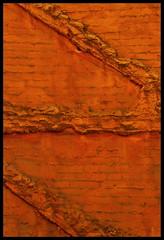 Gaucin orange (Bruce Poole) Tags: travel orange geometric europe paint decay bricks andalucia espana zigzag andalousie espagna alandalus andalou gaucin andalus andalous brucepoole