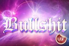 Bullshit (Usf B) Tags: pink typography design purple graphic space bull shit cosmic cosmos bullshit