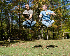Floaters ({bottlecaps) Tags: friends silly floating levitation 18105mm conceptphoto d7000