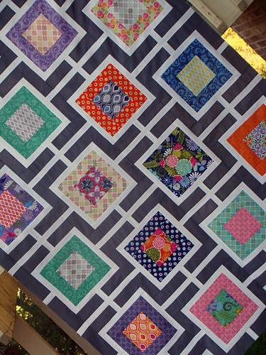 Terrain quilt top