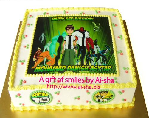 Birthday Cake Edible Image Ben10