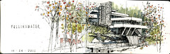 Fallingwater (Don Gore (dgdraws)) Tags: moleskine watercolor sketch pennsylvania fallingwater dongore