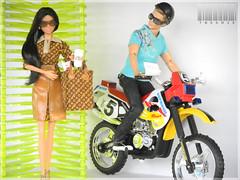 Barbie (Goddess) Wears LV (TweeBie) Tags: black photography louis doll ken barbie jeans harleydavidson denim basics mattel vuitton malemuse fashionistas pivotal maledoll goddessdoll modelmuse