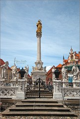 Plague Column Maribor central place (Stefan Cioata) Tags: trip summer vacation tourism beautiful statue photography photo europe image sale great stock central best explore slovenia getty column top10 maribor available plague verticality outstanding
