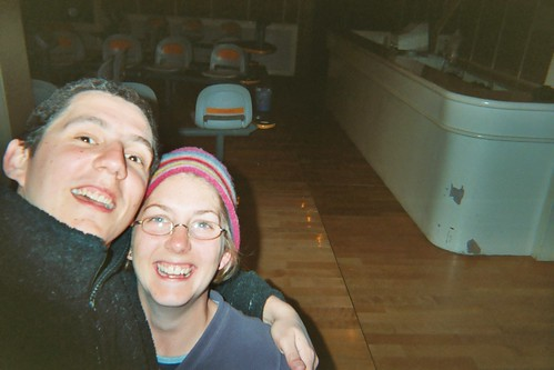 With Bek the Hat, bowling at the hotel near the Friendship Store