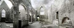 Errily Ross abbey (Jerome Pouysegu) Tags: ireland abbey ruins 5d mayo irlande ruines abbaye headford blackwhitephotos errilyross