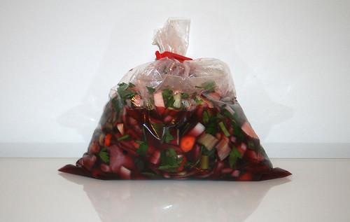 19 - Fleisch in Wein-Essig-Gemüse-Mischung einlegen