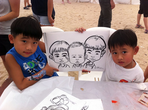 caricature live sketching for LGT Family Day - 6