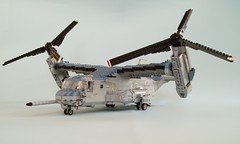 MV-22B Osprey (1) (Mad physicist) Tags: usmc lego military marines osprey v22 tiltrotor mv22b