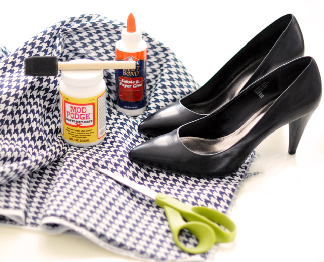 Houndstooth Shoes DIY - materiais