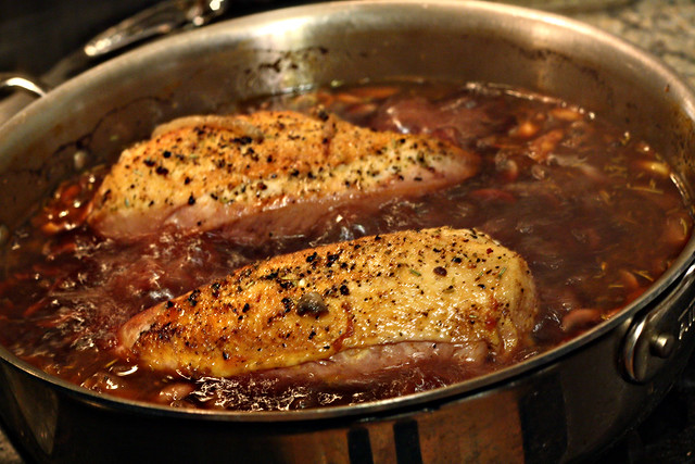 Coq au vin 4 boiling chicken