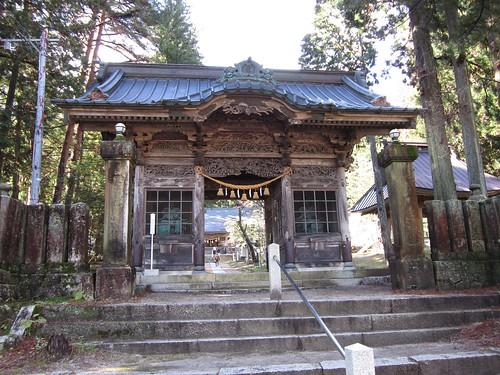 有明山神社の裕明門 2011年11月12日 by Poran111