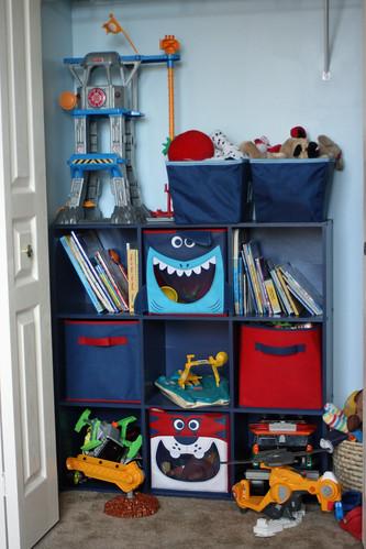 Sean's room ... closet toys