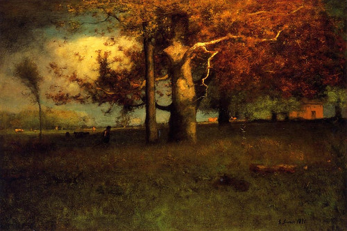 George Inness 'Early Autumn, Montclair' 1891 by Plum leaves