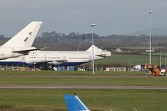 G-BNLC 2 (aitch tee) Tags: airport aircraft cardiff scrapyard ba boeing recycling scrapping britishairways 2011 b747400 gbnlc
