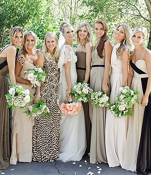 Molly Sims wedding party